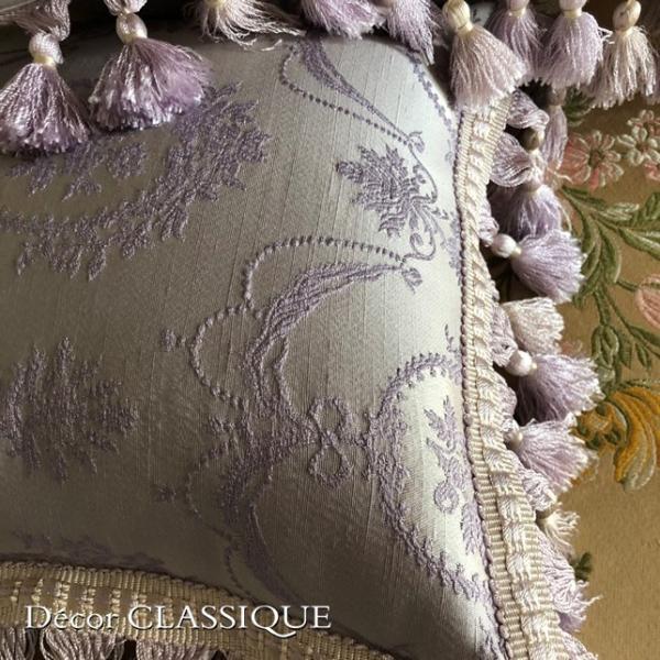 2個セット:フリンジ付きプチクッション:フレンチラベンダー Decor CLASSIQUE|decor-classique|08