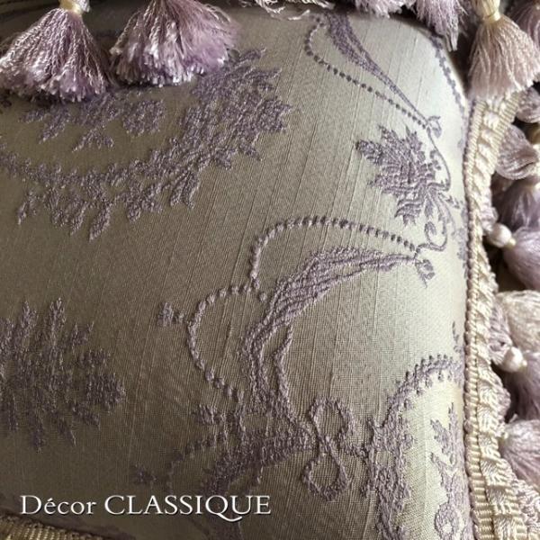 2個セット:フリンジ付きプチクッション:フレンチラベンダー Decor CLASSIQUE|decor-classique|09