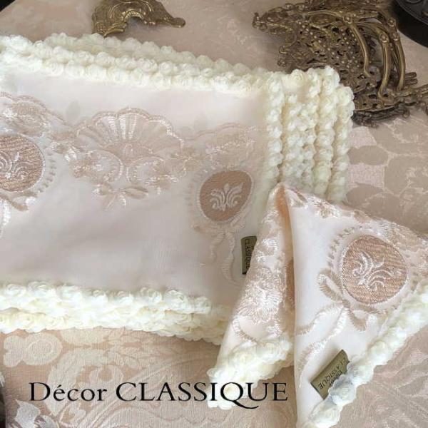 カクテルナプキン:エレガントティーナプキン:淑女の扇とフルールドリスボゥ Decor CLASSIQUE|decor-classique|03