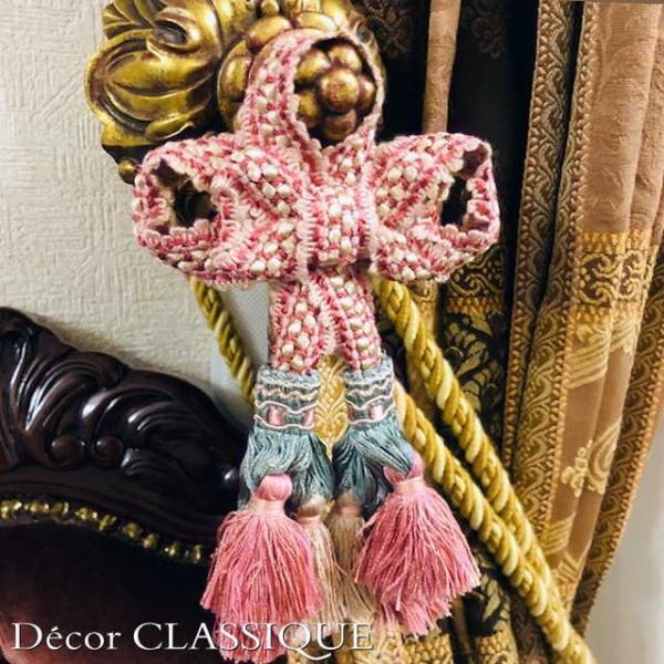 エレガントオーナメントボゥタッセル   フレンチアンティークスタイル リボンボゥのダブルタッセル   Decor CLASSIQUE decor-classique 04