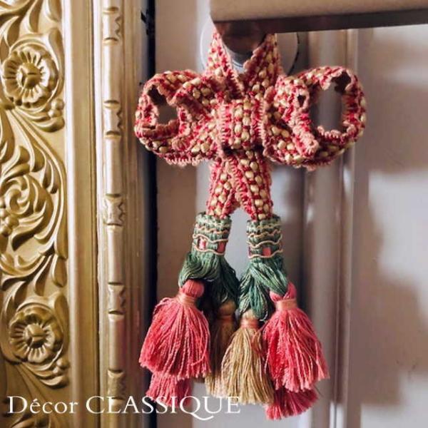 エレガントオーナメントボゥタッセル   フレンチアンティークスタイル リボンボゥのダブルタッセル   Decor CLASSIQUE decor-classique 06