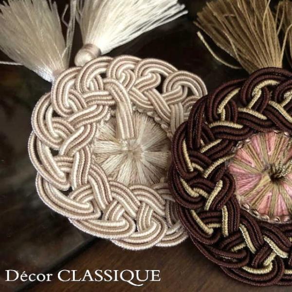 ロゼットタッセルデコール:裏にピンが付いていないタイプ:バッグチャーム・ハンドメイド素材にもおすすめ:Decor CLASSIQUE|decor-classique|02