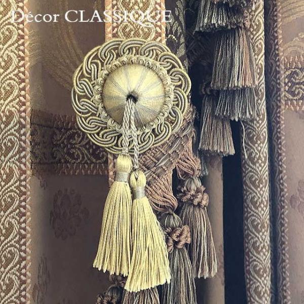 ロゼットタッセルデコール:裏にピンが付いていないタイプ:バッグチャーム・ハンドメイド素材にもおすすめ:Decor CLASSIQUE|decor-classique|04
