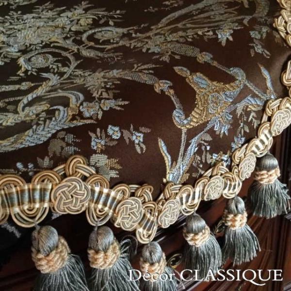 テーブルランナー ダークブラウン&ミント:240cm Decor CLASSIQUE|decor-classique|05