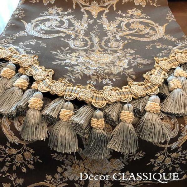 テーブルランナー ダークブラウン&ミント:240cm Decor CLASSIQUE|decor-classique|07