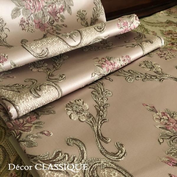 テーブルランナー:テーブルセンター 長さ200cm/230cm:エレガントローズシリーズ ピンク Decor CLASSIQUE decor-classique 08