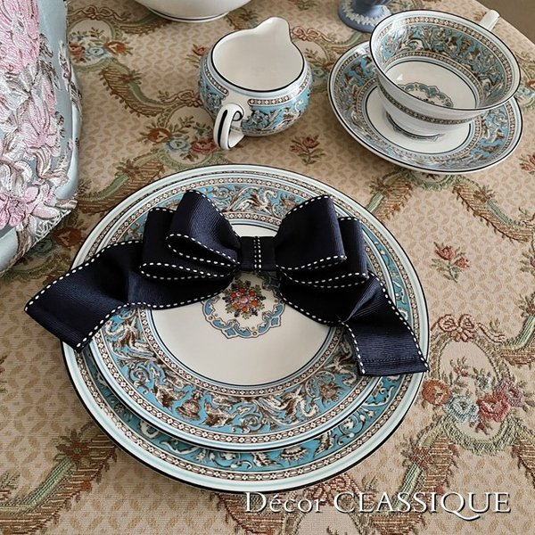ティーコゼー・ティーコージー・ティーポットカバー:エレガントローズシリーズ:ブルーローズ リボン付き 立体縫製:Decor CLASSIQUE decor-classique 05
