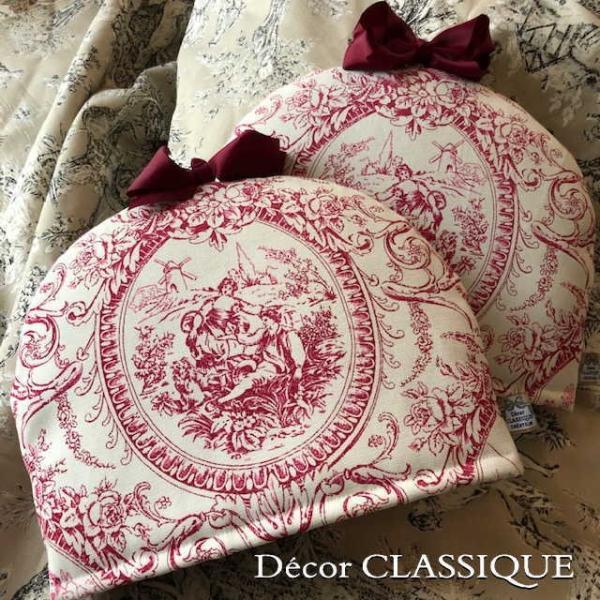 ティーコゼー・ティーコージー・ティーポットカバー:トワルパストラル リボン付き Decor CLASSIQUE|decor-classique
