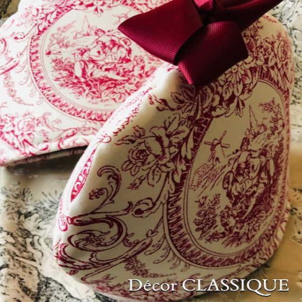 ティーコゼー・ティーコージー・ティーポットカバー:トワルパストラル リボン付き Decor CLASSIQUE|decor-classique|03