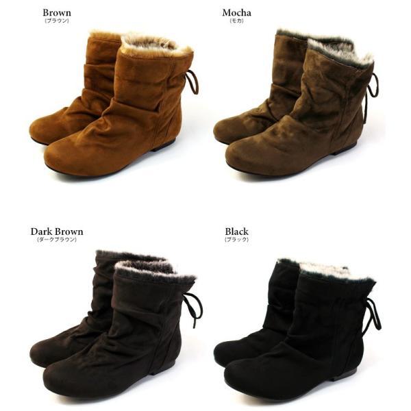 ブーツ ショートブーツ レディース 黒 低反発 大きいサイズ ファー りぼん ヒール ローヒール 特価の為返品交換不可 / 74-63ys412|decorate|13