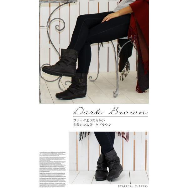 送料無料 ブーツ ショートブーツ レディース ヒール 黒 低反発 ローヒール フラット 痛くない シンプル / 74-63ys478|decorate|05