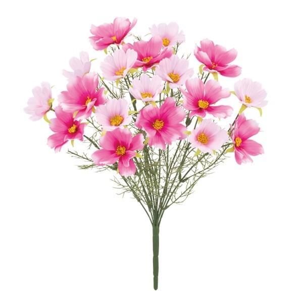 《光触媒》 (秋・造花) コスモスブッシュ *18(ピンク)[造花 ブッシュ 束 アートフラワー 光触媒]