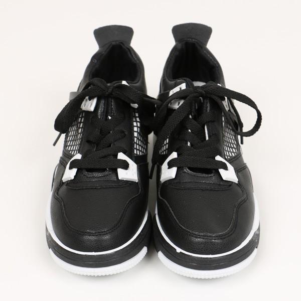 【予約商品】メッシュ風ザインが珍しいカジュアルスポーティな配色スニーカー 原宿系 ファッション レディース ハイテクスニーカー 運動靴 170712