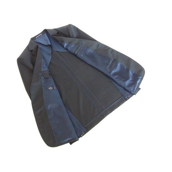2015春夏新作 REDA レダ Super110s 濃灰チャコールグレー無地系(刷毛目) 2ボタンスーツ (AB体)J07-2B 「やや細」|decte|05
