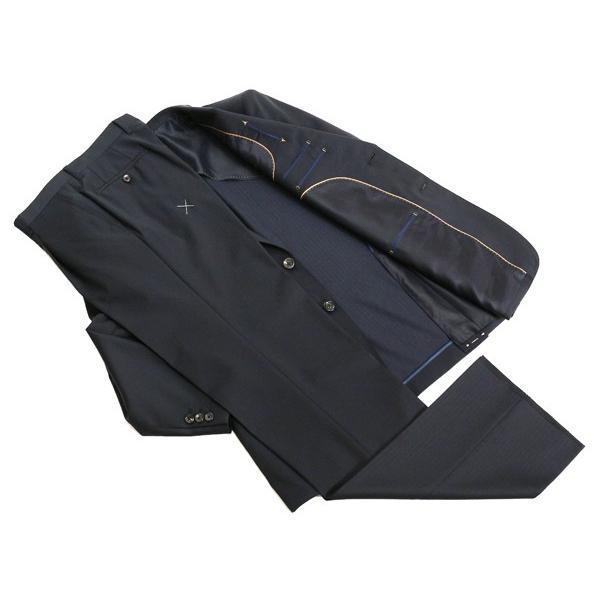 2016春夏新作モデル Loro Piana ロロピアーナ クラシック Super130s 濃紺ネイビー 杉綾織ヘリンボーン 2Bスーツ(A/AB体) NT01-2B|decte|05