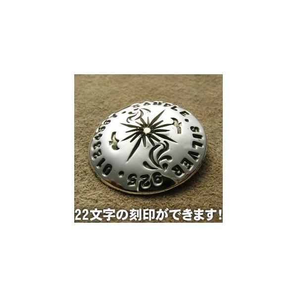 コンチョ シルバー 刻印 メンズ レディース ハンドメイド 手彫り