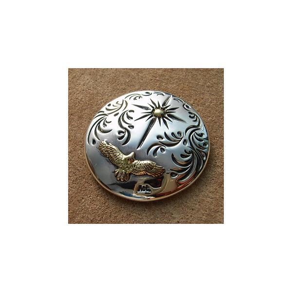 コンチョ シルバー メンズ レディース 鳥 ハンドメイド 手彫り