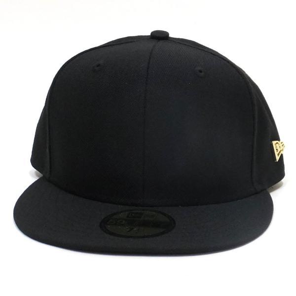 72647a497cc05 ... ニューエラ キャップ 帽子 メンズ レディース 無地 NEW ERA 59FIFTY ベーシック メタルフラッグロゴ ブラック  ゴールドフラッグ ...
