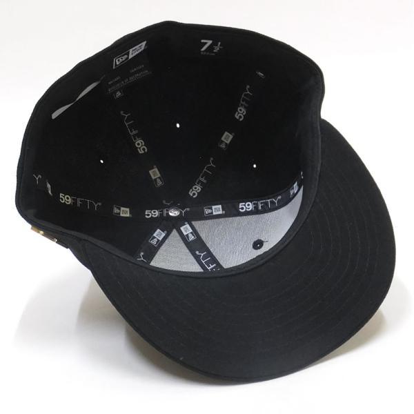 1de4567851b64 ... ニューエラ キャップ 帽子 メンズ レディース 無地 NEW ERA 59FIFTY ベーシック メタルフラッグロゴ ブラック ゴールドフラッグ