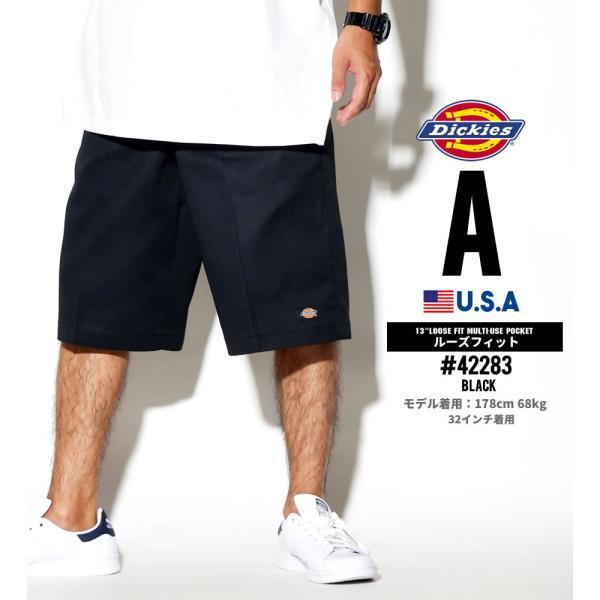 ディッキーズ ワークハーフパンツ ショートパンツ メンズ 大きいサイズ Dickies USA企画 Loose Fit Multi-Use Pocket Work Shorts #42283 deep 02