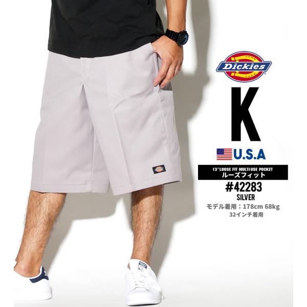 ディッキーズ ワークハーフパンツ ショートパンツ メンズ 大きいサイズ Dickies USA企画 Loose Fit Multi-Use Pocket Work Shorts #42283 deep 12