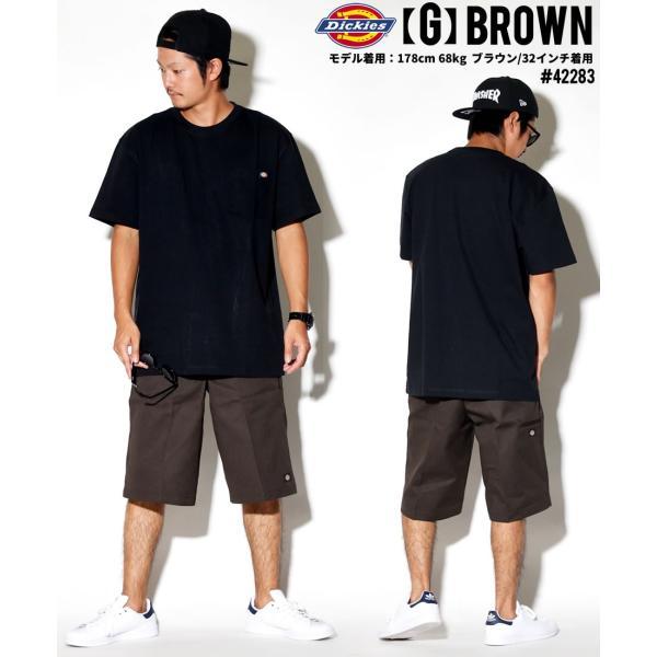 ディッキーズ ワークハーフパンツ ショートパンツ メンズ 大きいサイズ Dickies USA企画 Loose Fit Multi-Use Pocket Work Shorts #42283 deep 18