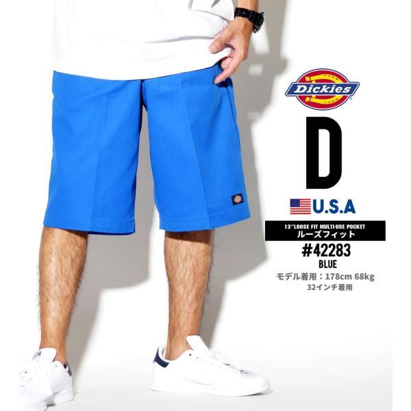 ディッキーズ ワークハーフパンツ ショートパンツ メンズ 大きいサイズ Dickies USA企画 Loose Fit Multi-Use Pocket Work Shorts #42283 deep 05