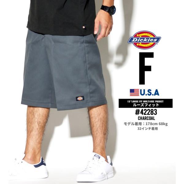 ディッキーズ ワークハーフパンツ ショートパンツ メンズ 大きいサイズ Dickies USA企画 Loose Fit Multi-Use Pocket Work Shorts #42283 deep 07