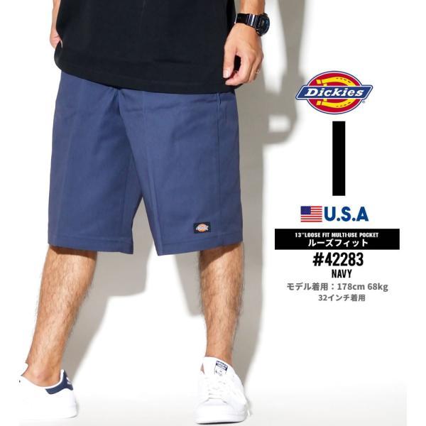 ディッキーズ ワークハーフパンツ ショートパンツ メンズ 大きいサイズ Dickies USA企画 Loose Fit Multi-Use Pocket Work Shorts #42283 deep 10