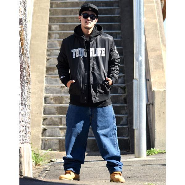 オーバーサイズ 大きいサイズ レザー メンズ スタジアムジャンパー ヒップホップ ファッション b系 スタジャン
