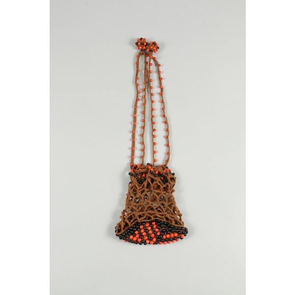 Hand knit Wooden Beads Bag -CAMEL Jun Mikami(ジュン・ミカミ)