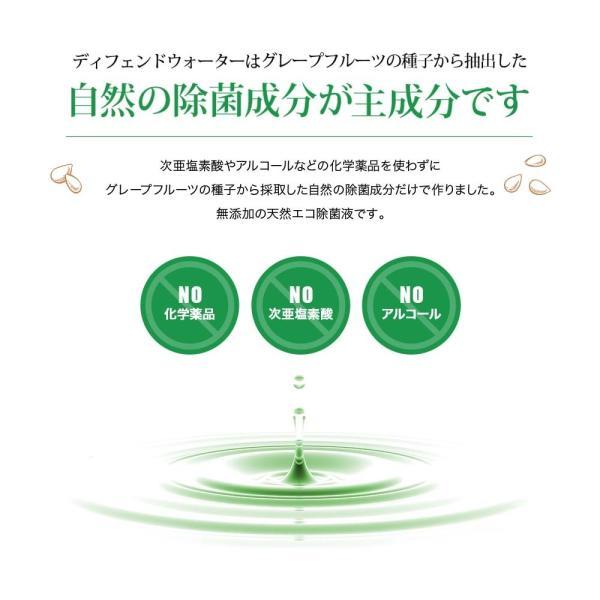 加湿器のヌメリ・悪臭防止に。ミストで空間除菌します。ノロウイルスやレジオネラ菌、インフルエンザ等の予防に。ディフェンドウォーター DW200K|defendwaterstore|03