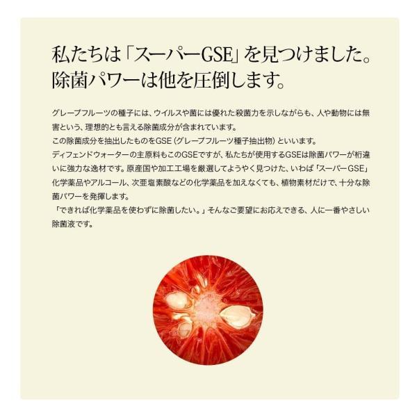 加湿器のヌメリ・悪臭防止に。ミストで空間除菌します。ノロウイルスやレジオネラ菌、インフルエンザ等の予防に。ディフェンドウォーター DW200K|defendwaterstore|04