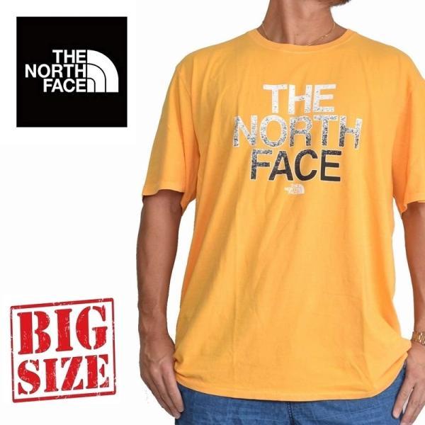 大きいサイズ メンズ ノースフェイス 半袖 ロゴプリント Tシャツ 黄色 イエロー XL XXL THE NORTH FACE USAモデル STANDARD FIT|deff