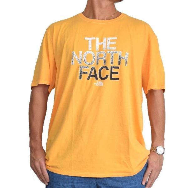 大きいサイズ メンズ ノースフェイス 半袖 ロゴプリント Tシャツ 黄色 イエロー XL XXL THE NORTH FACE USAモデル STANDARD FIT|deff|02