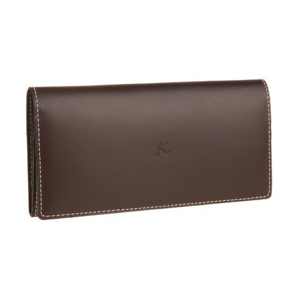 キタムラ 財布長財布ZH0070チョコ/ベージュステッチ 茶色 62501