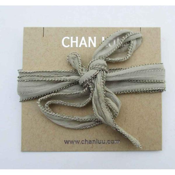 CHAN LUU チャン・ルー チャンルー チェーントリミングのシフォン素材のネックタイ ラリエット NK8568