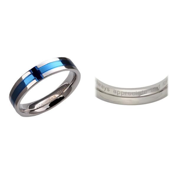 指輪 レディース シンプル ステンレス ブルー ペアリング|delacruz|08