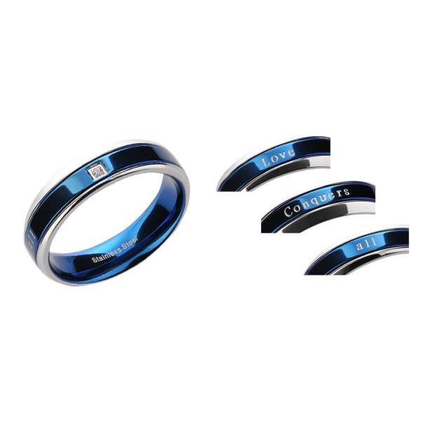 指輪 レディース シンプル ステンレス ブルー ペアリング|delacruz|10