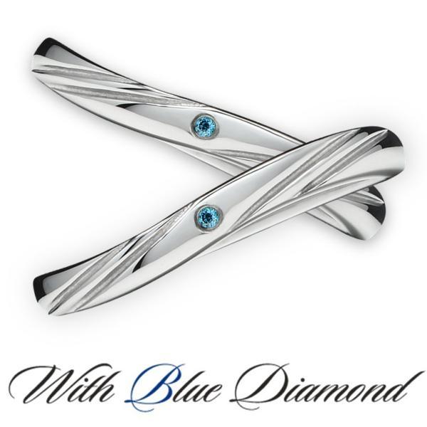 ペアリング ダイヤモンド ステンレス シンプル セット 指輪 delacruz