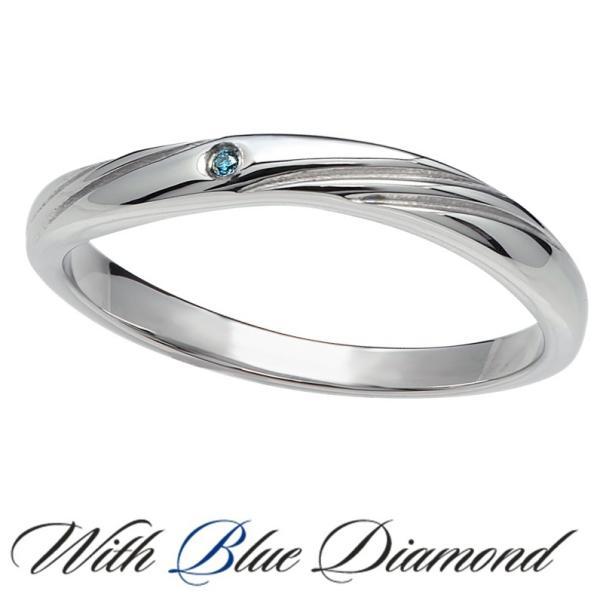 ペアリング ダイヤモンド ステンレス シンプル セット 指輪 delacruz 02