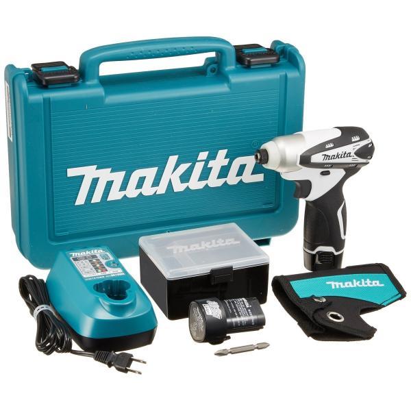 マキタ 充電式インパクトドライバ 10.8V 1.3Ah 白 バッテリー2個付き TD090DWXW|delantero