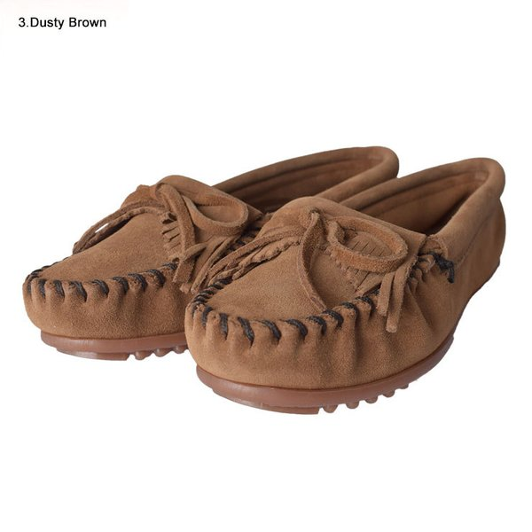 MINNETONKAミネトンカ キルティ スエード モック モカシンKILTY SUEDE MOC MOCCASIN 401 400 402 403 409 401T 407T 409T 406 408T|delicious-y|03