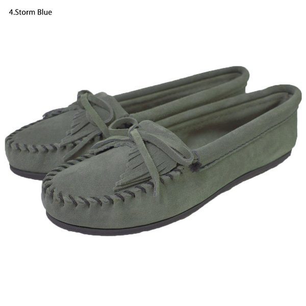 MINNETONKAミネトンカ キルティ スエード モック モカシンKILTY SUEDE MOC MOCCASIN 401 400 402 403 409 401T 407T 409T 406 408T|delicious-y|04