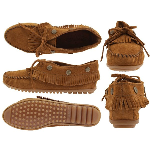 MINNETONKAミネトンカ フリンジ モカシンFRINGED MOCCASIN530 BLACK533 DUSTY BROWN532 BROWN|delicious-y|02