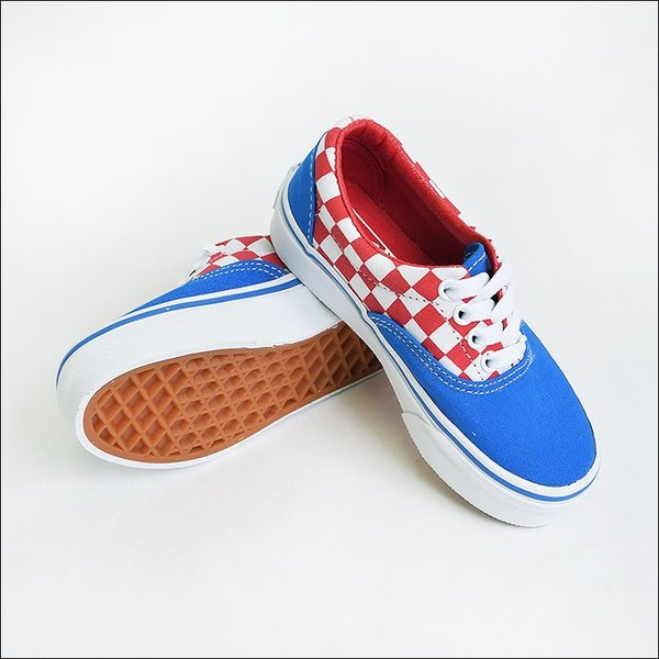 VANS KIDS バンズ キッズ VN0A38H8MJ4 KIDS ERA Checkerboard Racing Red/Imperial Blue バンズ キッズ エラ チェッカーボード 子供用スニーカー 2017SP|delicious-y|02