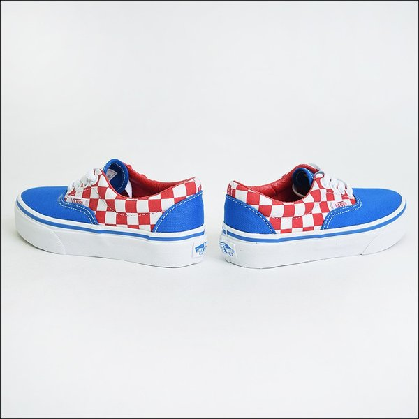 VANS KIDS バンズ キッズ VN0A38H8MJ4 KIDS ERA Checkerboard Racing Red/Imperial Blue バンズ キッズ エラ チェッカーボード 子供用スニーカー 2017SP|delicious-y|03