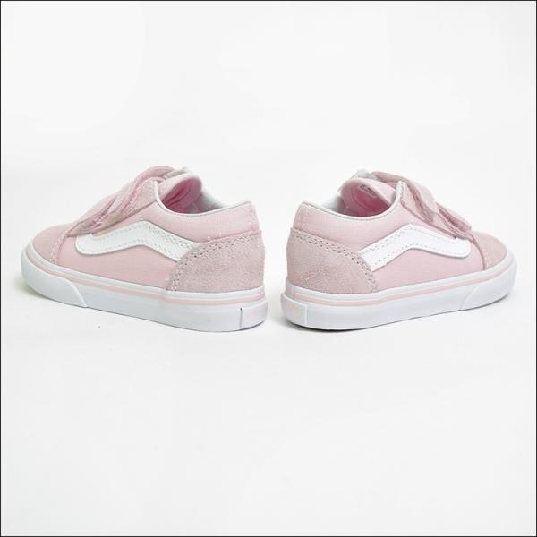 VANS TODDLER SP'18 バンズ トドラー VN0A344KQ7K OLD SKOOL V Suede/Canvas Chalk Pink/True White オールドスクール ピンク ホワイト 幼児用スニーカー|delicious-y|02