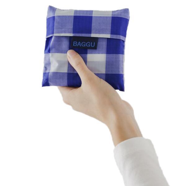 メール便 BAGGU バッグ STANDARD スタンダード【BIG CHECK BLUE】チェック ブルー 青 エコバッグ ナイロンバッグ ショッピングバッグ トートバッグ|delicious-y|03