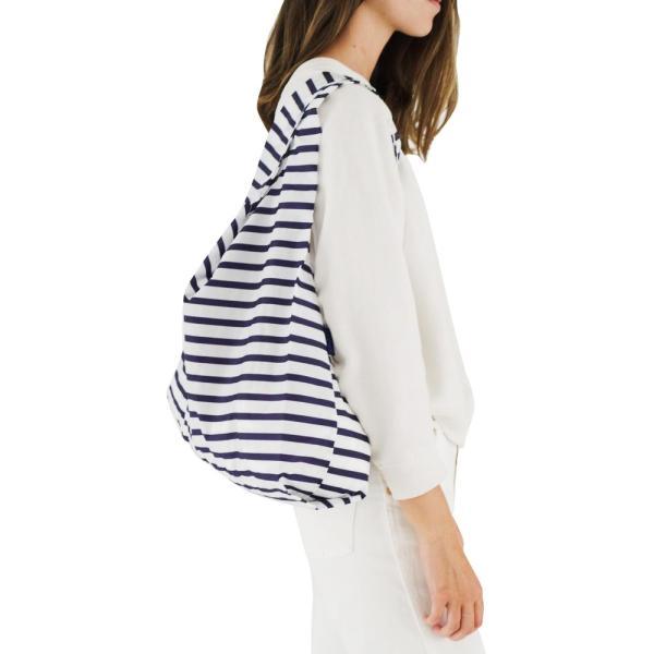メール便 BAGGU バッグ STANDARD スタンダード【Sailor Stripe】ストライプ ネイビー ホワイト エコバッグ ナイロンバッグ ショッピングバッグ トートバッグ|delicious-y|02